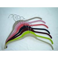 flocked shirt hangers