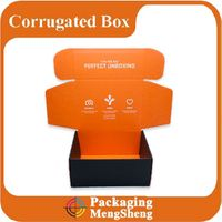 Custom printed cardboard box with logo corrugated mailing box