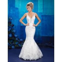 New design 2017 spring elegant mermaid wedding dress