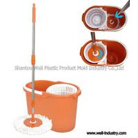 Hand-Press Double Device Spin Mop