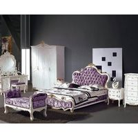 European Style Royal Wooden Home Furniture Bedroom Bed (25#)