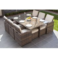 Alu rattan dining set