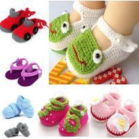 Cheap Baby Happy Beautiful Soft Casual Knitted Coloured Shoes