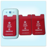 Mobile phone card holder ,custom logo cell phone case card holder
