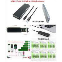 type c USB 3.1 Gen2 NVME M.2 ssd enclosure thumbnail image