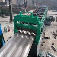 Large-Size Trapezoidal Car Carriage Plate Automatic Cold Roll Bending Forming Machine