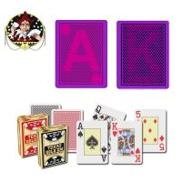 Marked playing cards with infrared contact lenses in Copag texas holdem