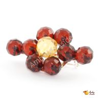 """Amber Broosh """"Rounds"""" .925 Sterling Silver thumbnail image"""