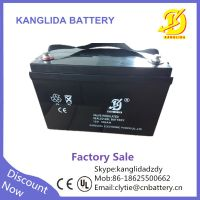 kanglida 12v 100ah lead acid solar battery