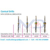 Conical Drills with External Irrigation Dental Drills thumbnail image