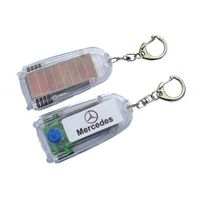 Solar-Powered Keyring /Solar keychain with torch/Solar powered flashing key ring