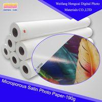 190gsm resin coated satin Photo Paper digital printing material thumbnail image