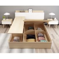 Modern bedroom furniture wood bed thumbnail image