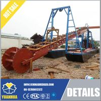 Bucket Dredger with tailing recovery machine for gold mining