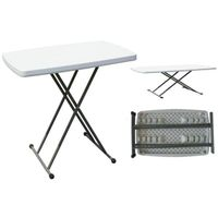 plastic folding table/adjustable computer table/personal reading table/strong HDPE blowing mold/soli