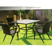 Jinpaiya manufacture 7pc outdoor dining furniture with suuare table and chairs