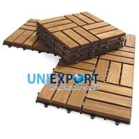 Eco-Friendly Wooden Deck Tiles