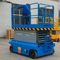 China 10m 230kg hydraulic mobile scissor lift platform for sale