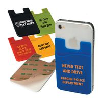 Custom cheap promotional silicone card sleeve, credit card holder phone wallet,cell phone credit car thumbnail image
