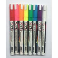 2mm Round Tip, Colored Liquid Chalk Marker, Water-based Window Marker Lable marker