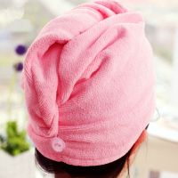 Hot selling household microfiber hair fast dry towel wraps turban