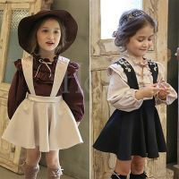 2017 Summer Dress Children Clothing Sets Shirt+Strap Dress for Girls Dress Sundress Tutu Dresses Pri