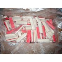 Frozen surimi crab sticks filament IWP red color