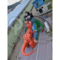 Inflatable king kong dinosaur fight giant slide
