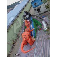 Inflatable king kong dinosaur fight giant slide thumbnail image