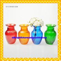 painted colorful manchine made glass vase