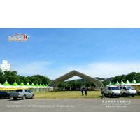 Liri Tent Waterproof Curved Tent for Outdoor Events