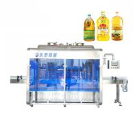 Automatic coconut castor vegetabble edible cooking oil bottle filling machine