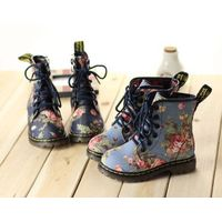 A1531 New Winter Kids Shoes For Girls Flower Fashion Pint Children's Horse Snow Boot