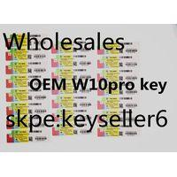 OEM W10 pro key,all kind of oem sticker microsoft,genuine,original, multilanguage oem key