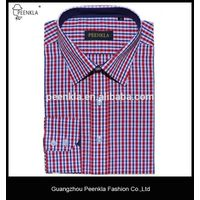 New design regular fit classic collar cotton check dress formal men shirt