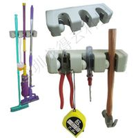 (LDY0301)Manufacturer Price$1.7/piece Patent Product 3 Slots mop holder, broom hanger, wall hook, to thumbnail image