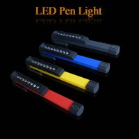 6-8 LED Flashlight With a moveable magnetic clip,can stick on the metal.