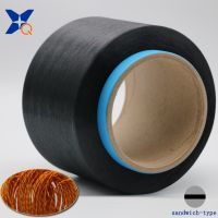 Black Carbon Inside Conductive Polyester Fiber Filaments 50d/8f Sandwich Type for Anti Static Harnes