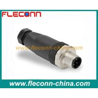 M12 field assembly screw terminal plastic shell male connector