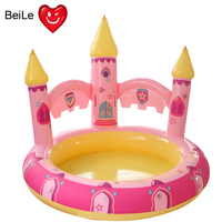 Hot selling pink princess castle inflatable pool for girl