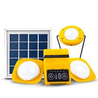 Solar LED Home System ( 3 LED Lamps + Powerbank + Solar Panel )