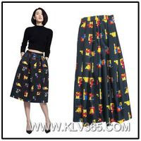 Latest Skirt Design Hot Sale Long Maxi Skirt for Young Laides