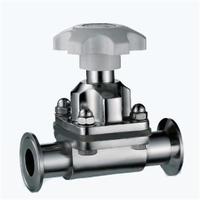 Stainless Steel Sanitary Clamped Diaphragm Valve thumbnail image