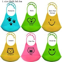 Soft waterproof baby bib silicone large size