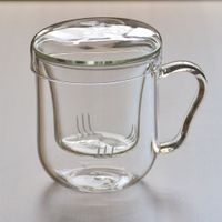 3-in-1 Glass Tea Cup with infuser thumbnail image