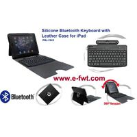 FEL-2943 Silicone BT Keyboard with Leather Case for iPad thumbnail image