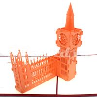 Big Ben 3-3d card-pop up card-handmade card-birthday card-greeting card-laser cut-paper cutting