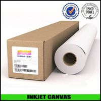 Waterproof glossy poly cotton inkjet canvas