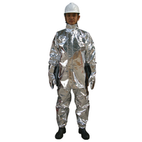 High temperature aluminum foils protective suit with trouser