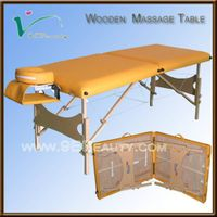 wooden massage table thumbnail image